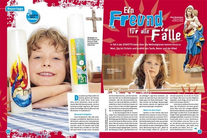 Reportagefotografie Fürth, Nürnberg und Erlangen für das Kindermagazin Stafette