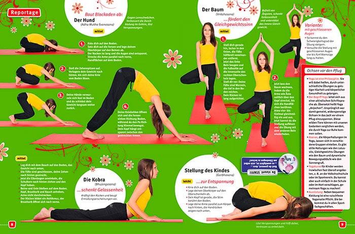 Reportagefotografie Fürth, Nürnberg und Erlangen über Yoga für das Kindermagazin Stafette