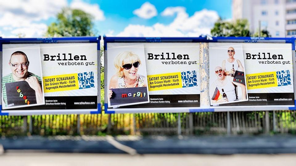 Schauhaus Werbeplakate