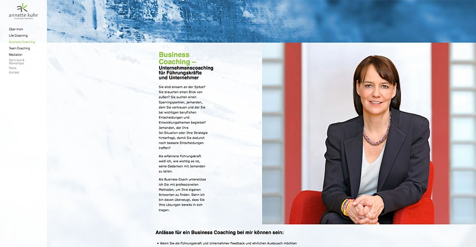 Business Portraits, Businessfotos,Businessfotografie der Mediatorin Annette Kuhr