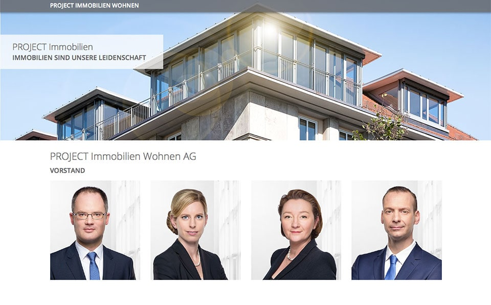 Business Portraits, Businessfotos,Businessfotografie für PROJECT Immobilien