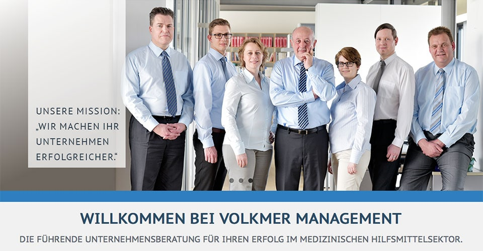 Business Portraits, Businessfotos,Businessfotografie der Unternehmensberatung Volkmer Management