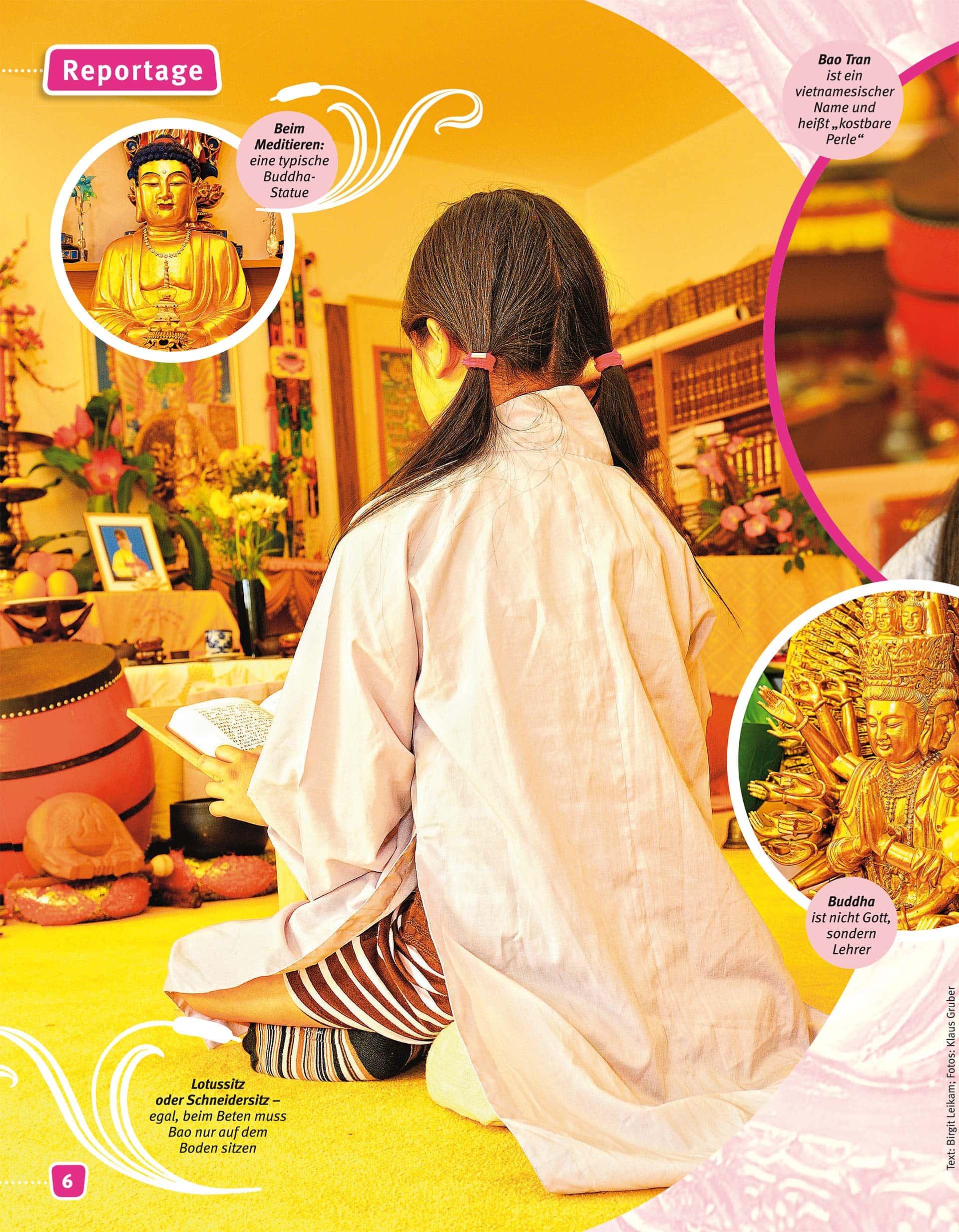 Buddhismus - Reportagefotografie für Magazin Stafette - Fotograf Fürth