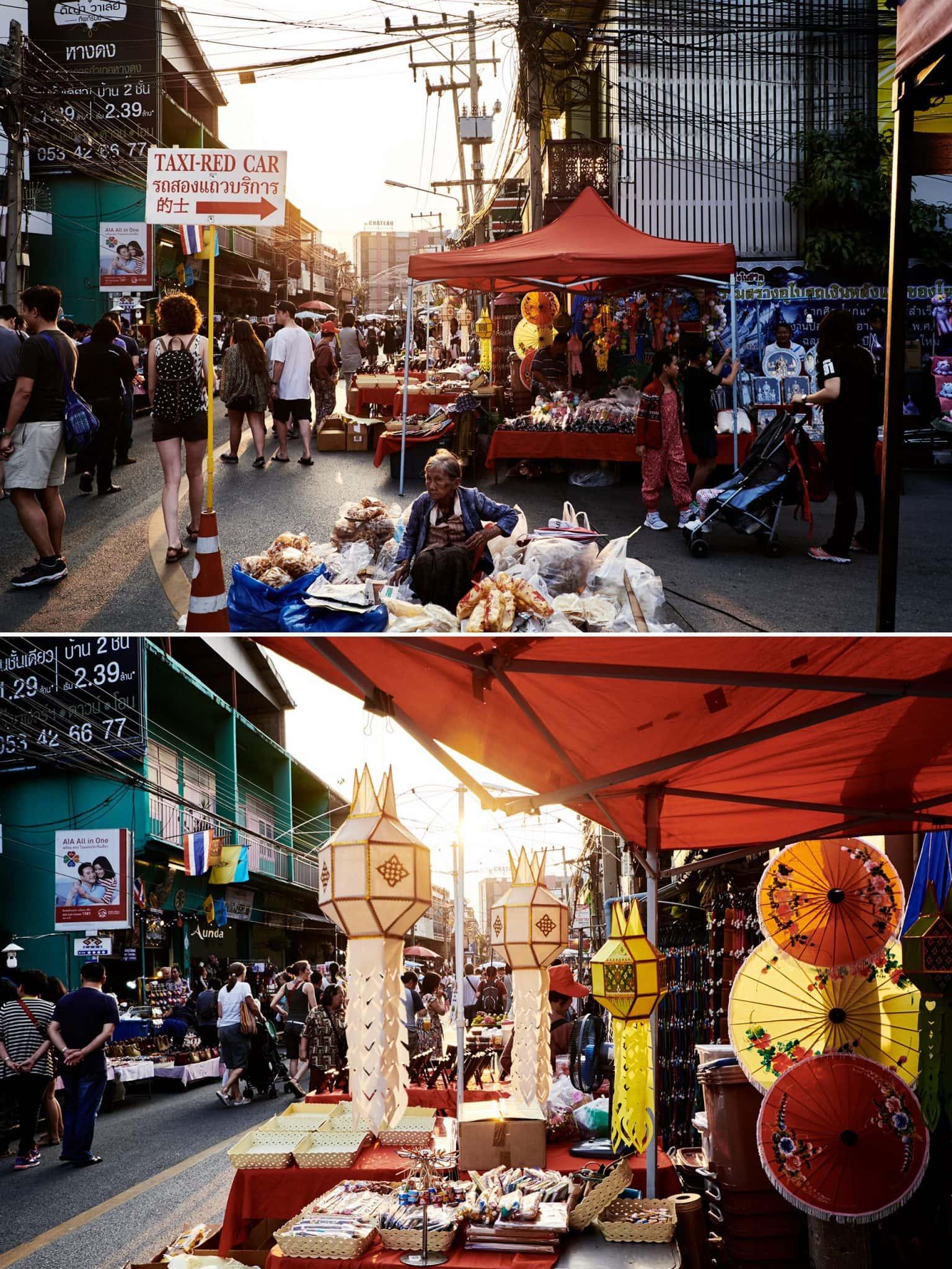 Night Market, Strassenmarkt in Nordthailand