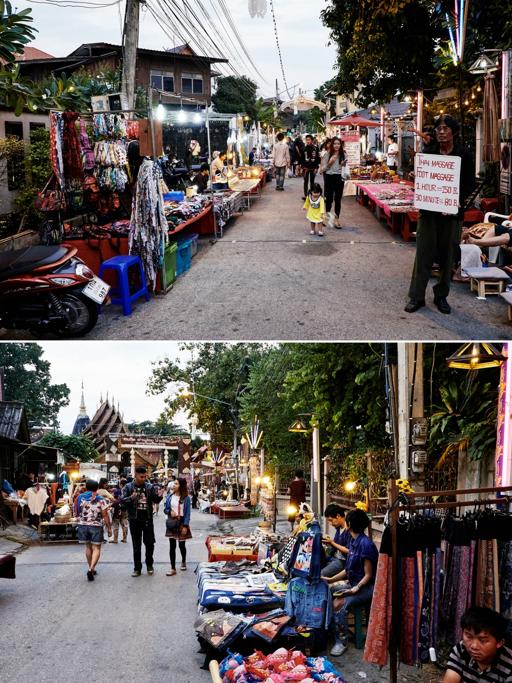 Night Market, Strassenmarkt in Nordthailand