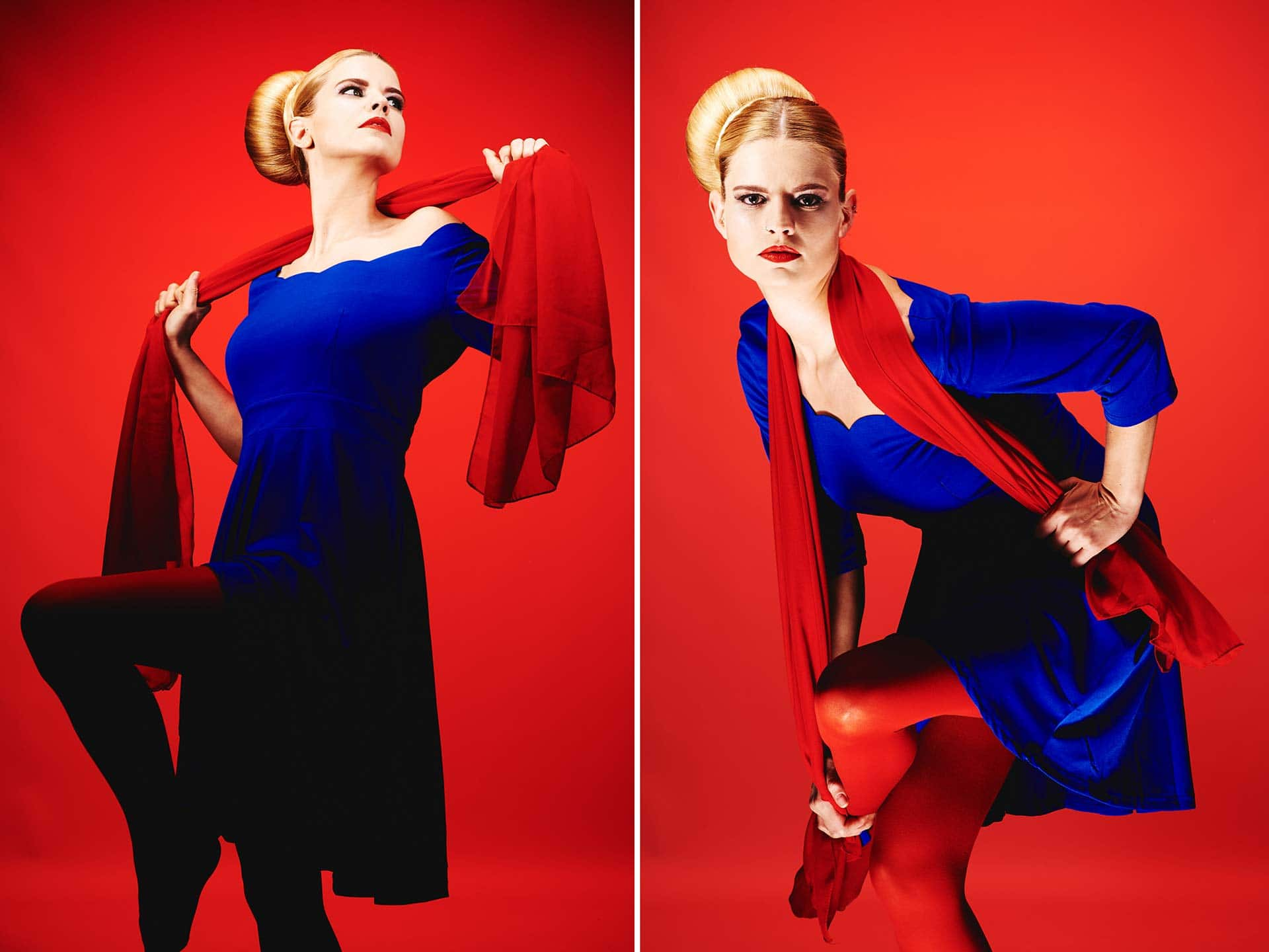 Fotograf Fürth, Color blocking Fotoshooting Make-up Artist School by Carola Hickl