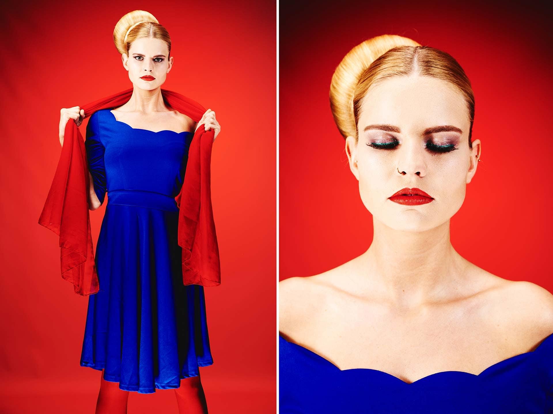 Fotograf Fürth, Color blocking Fotoshooting in der Make up Artist Schule Carola Hickl