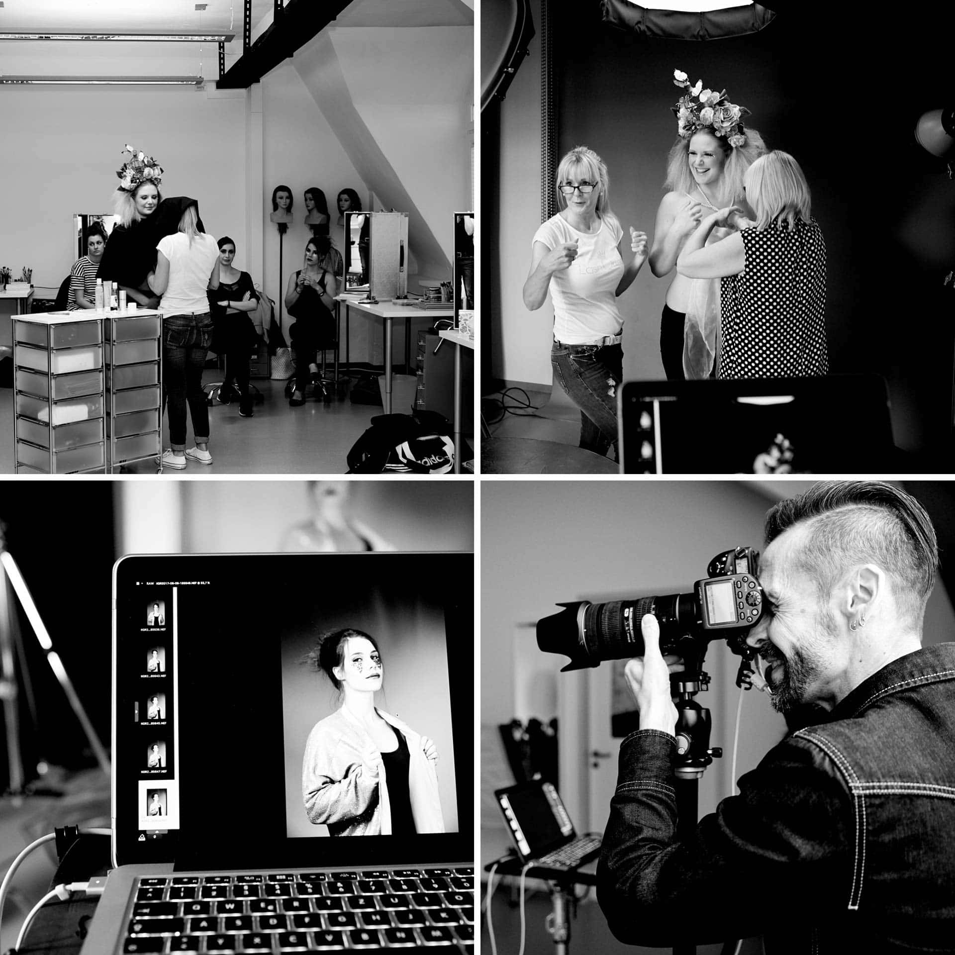 Fotograf Fürth, making-of Fotos des Freestyle Make-up Shootings