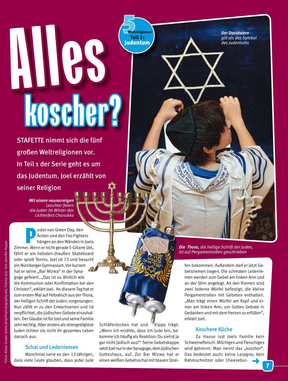 Judentum - Reportagefotografie für Magazin Stafette - Fotograf Fürth