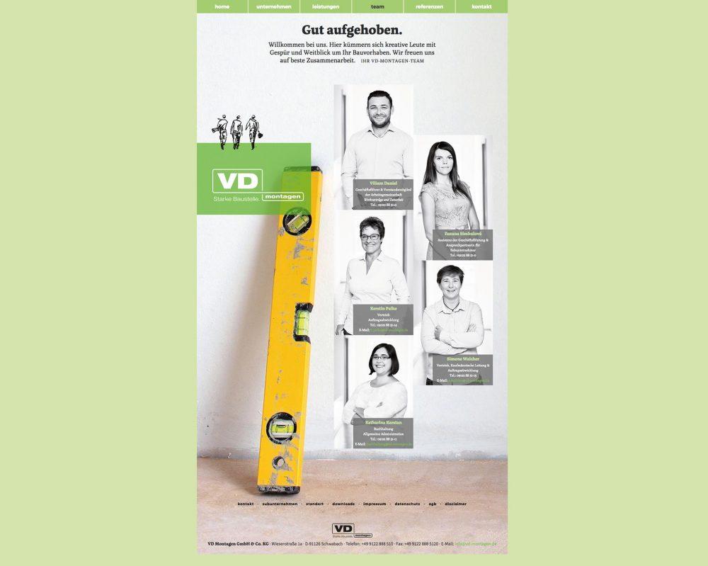 Imagefotografie für das Unternehmen VD Montagen GmbH & Co. KG in Schwabach