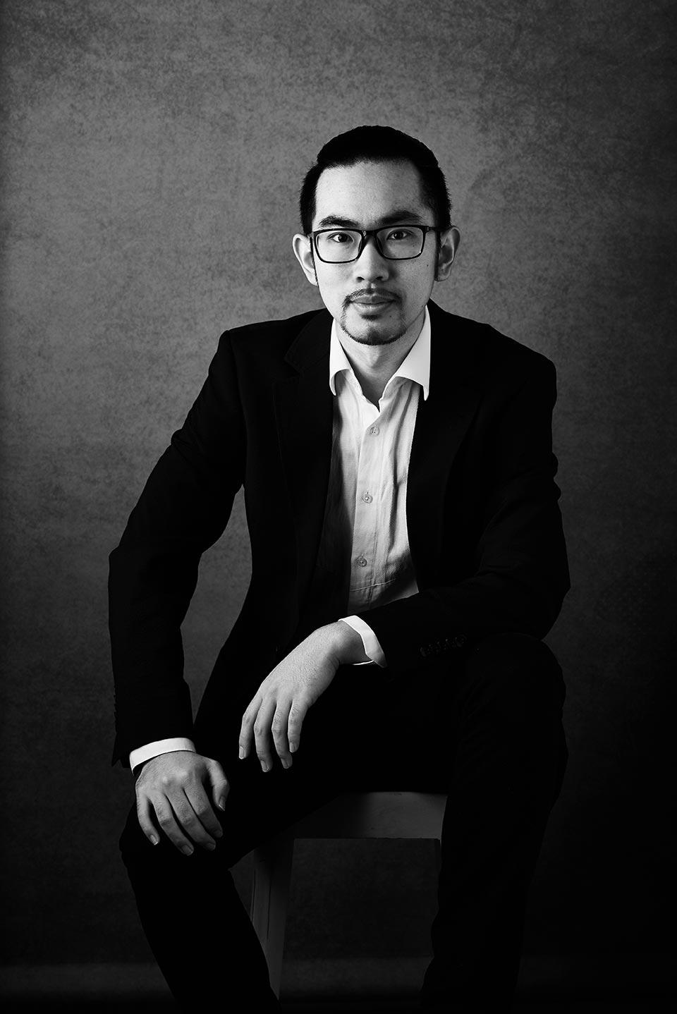 Fotograf Fürth, Künstlerportrait mit Chun Ding