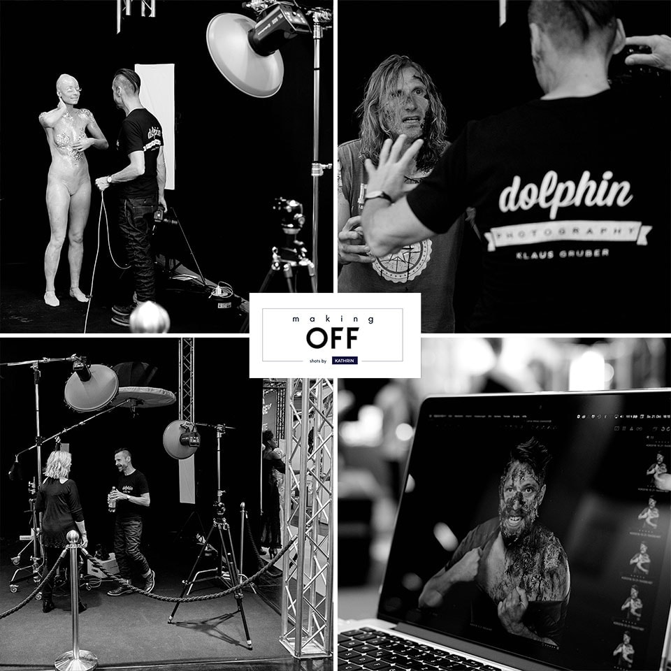 Fotograf Fürth, making of des Black and White Live-Fotoshootings