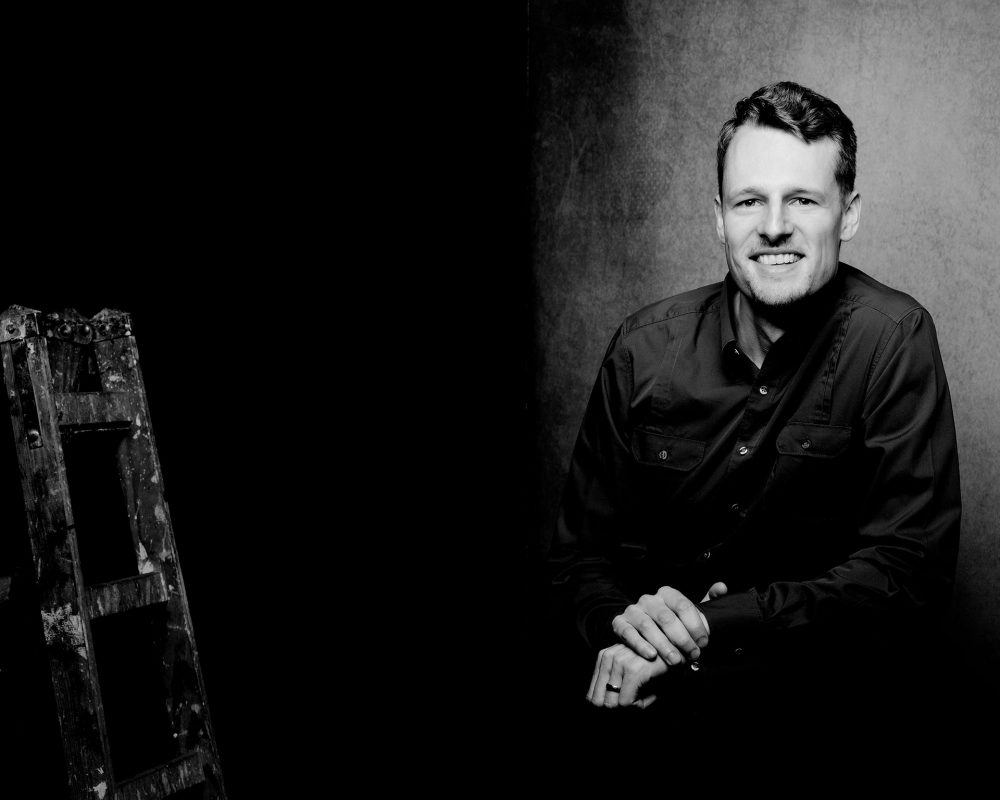 Portraitfotografie im Studio, Männerportraits in Schwarzweiss, Fotograf Fürth