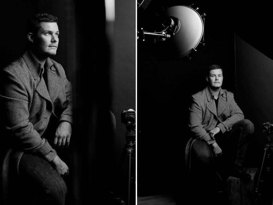 Schauspielerfotos im Studio, Männerportraits in Schwarzweiss, Fotograf Fürth